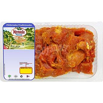 NEVADA Pincho moruno de jamon de cerdo envasado al vacio bandeja 500 g Bandeja 500 g