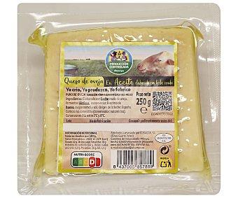 ALCAMPO PRODUCCIÓN CONTROLADA Queso de oveja semicurado en aceite 250 g