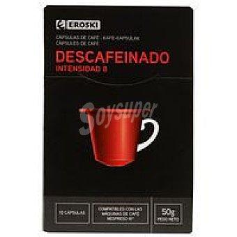 Eroski Café Descafeinado caja 10 unidades