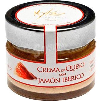 MYKES GOURMET Crema de queso curado de oveja con jamón ibérico tarro 150 g tarro 150 g