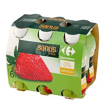 Carrefour Sanus Fresa 0% Pack de 6 uds