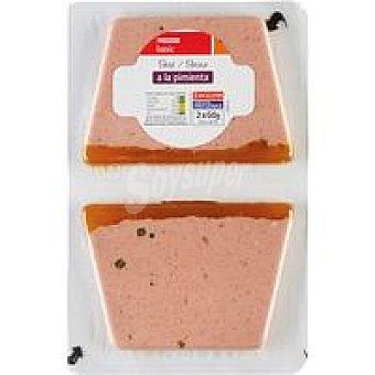 Eroski Basic Paté a la pimienta Pack 2x60 g