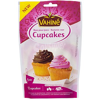 Vahiné Base mix para cupcakes rápida y deliciosa Bolsa 300 g
