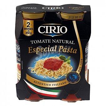 Cirio Tomate natural especial pasta Pack de 2 tarros de 350 g