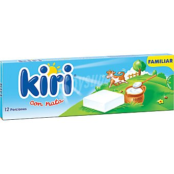 Kiri Queso cremoso con nata enriquecido con calcio 12 porciones Caja 216 g