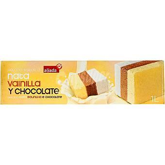 Aliada Bloque de helado tres sabores nata vainilla y chocolate Estuche 1000 ml