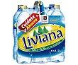 Agua mineral Botella de 1,5 litros pack de 6 Fuente Liviana