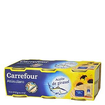 Carrefour Atún Claro en Aceite de girasol Pack de 6x52 g