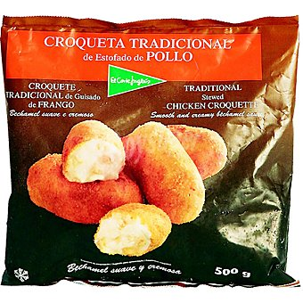 El Corte Inglés Croqueta tradicional de estofado de pollo bolsa 500 g Bolsa 500 g