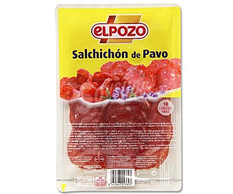 ElPozo Salchichón de pavo en lonchas finas 80 gramos