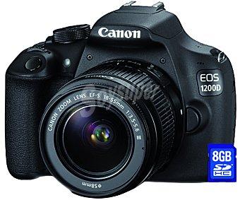 Canon Cámara Reflex EOS1200D KIT 1 unidad