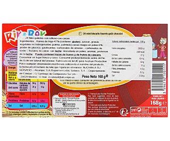 Rik&Rok Auchan Mini galletas rellenas con crema de chocolate 168 gramos
