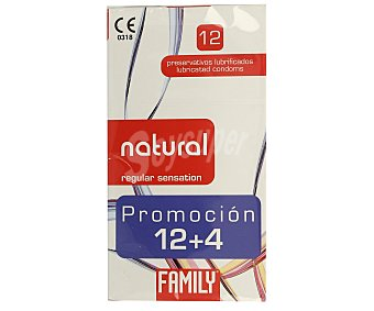 Family Preservativos natural+plus Fine 12u
