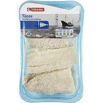 Eroski Tacos de bacalao Bandeja 400 g