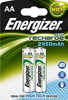 Accu Recharge Pila Recargable HR-6 AA bl2 2450 mah 2 uds