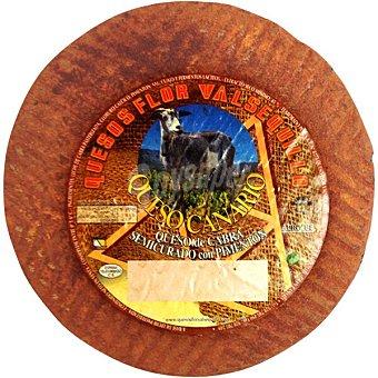 Flor valsequillo queso canario de cabra semicurado con pimentón peso aproximado pieza 4 kg