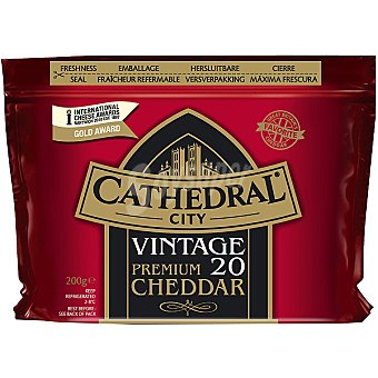CATHEDRAL Vintage Premium Queso cheddar Envase 200 g