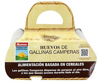 Auchan Producción Controlada Huevos camperos procedentes de gallinas camperas 6 uds