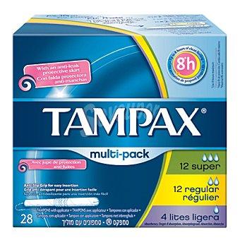 Tampax Tampones con aplicador 12 súper + 12 regular + 4 mini 28 ud