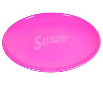 TABERSEO Plato de postre de 20.32 centímetros y fabricado en melamina de color rosa 1 Unidad