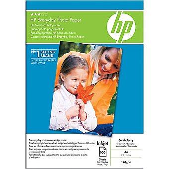 HP Papel fotográfico semiglossy 100 hojas A4 /m² 170 g