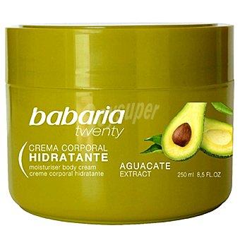 Babaria Twenty crema corporal Hidratante con extracto de Aguacate para todo tipo de piel tarro 250 ml