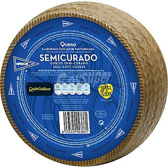 Hipercor Queso castellano semicurado elaborado con leche pasteurizada peso aproximado pieza 3 kg