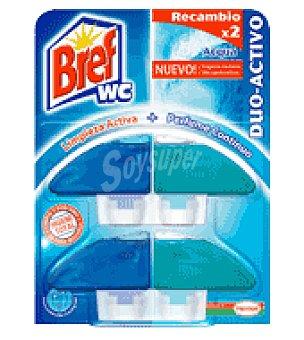 Bref WC Colgador wc duo activo 2 recambios azul 2 ud