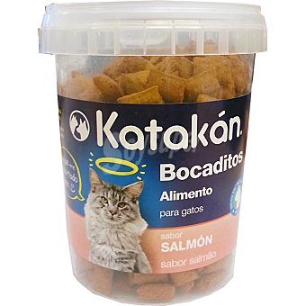 KATAKÁN Bocaditos para gato sabor salmón  envase 170 g