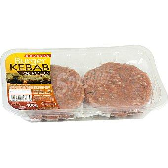 Campohermoso Hamburguesas burguer kebad de pollo bandeja 400 g 4 unidades