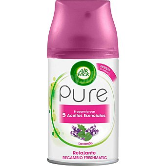 Air Wick Freshmatic Pure ambientador automático con 5 aceites esenciales aroma Lavanda recambio 250 ml 250 ml