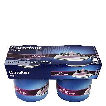 Carrefour Yogur con moras Pack 2x150 g