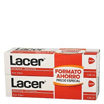 Lacer Pasta dentífrica antiplaca y anticaries Pack 2 x 125 ml