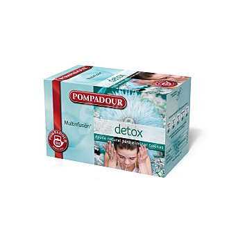 Pompadour Multinfusión ayuda para eliminar toxinas Detox 20 sobres (estuche 40 g)