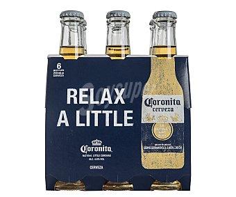 Coronita Cerveza  pack de 6x21 cl