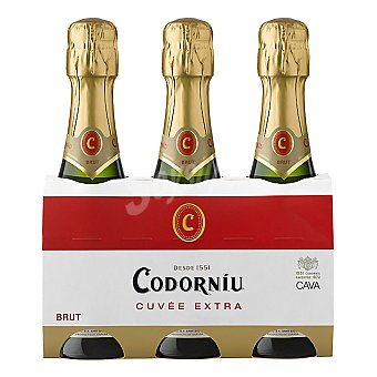 Codorníu Cava Brut cuvée extra Pack 3 botellines x 20 cl