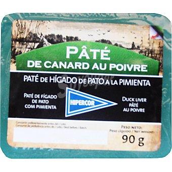 Hipercor Paté de pato a la pimienta envase 90 g Envase 90 g