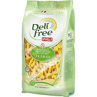 DIVELLA DELI FREE fusilli de maíz y arroz sin gluten  envase 500 g