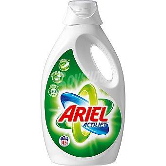 ARIEL detergente máquina líquido con actilift concentrado botella 45 dosis