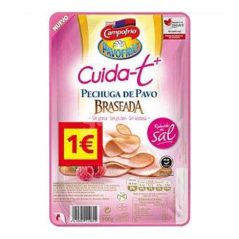 Campofrio Cuida-t+ Pechuga de Pavo Braseada Sin Gluten y Sin Lactosa 100 g