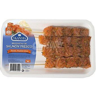 Skandia Brochetas de salmón fresco receta mediterránea Bandeja 165 g