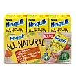 Batido fresa all natural Pack 3 x 180 ml Nesquik Nestlé