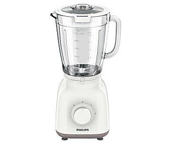 Philips Batidora con vaso, 400w, 2 velocidades y pulse, jarra de cristal con de capacidad HR2105/00 1,5 litros