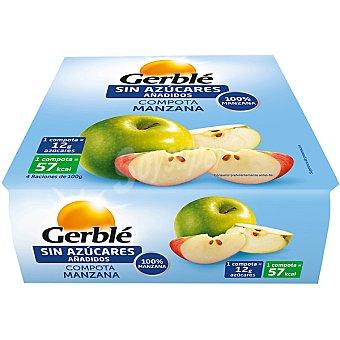 Gerblé Compota de manzana Pack 4 envases 100 g
