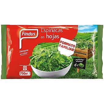 Findus Espinacas en hojas 4 porciones Envase 750 g
