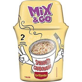 BRILLANTE MIX & GO Espaguetis a la carbonara envase 360 g Envase 360 g