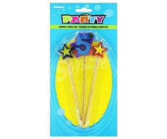 Party Velas palillo estrella Número 5 1 Unidades
