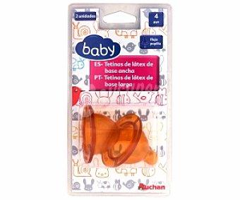 BABY Tetina látex de base ancha, flujo papilla, + 4 Meses