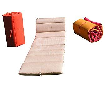 ANJOSA Cojín enrrollable para tumbona color rojo, de 185x55x6 centímetros 1 unidad