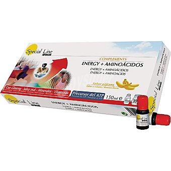 Special Line complemento energético aminoácido sabor plátano  estuche 10 unidades